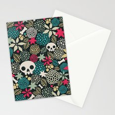Skulls and flowers. Stationery Cards