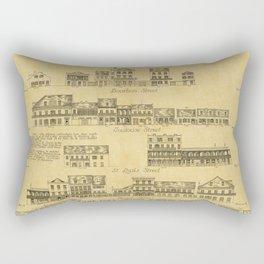 New Orleans Architecture Rectangular Pillow
