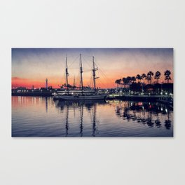 Bay Side Sunset Canvas Print