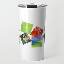 Painted Squares Jiggle Travel Mug