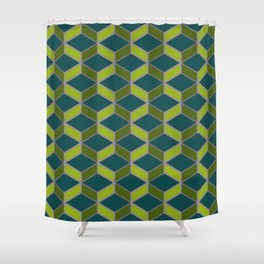 Hexangles - Orchid Shower Curtain