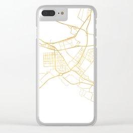 ABU DHABI UNITED ARAB EMIRATES CITY STREET MAP ART Clear iPhone Case