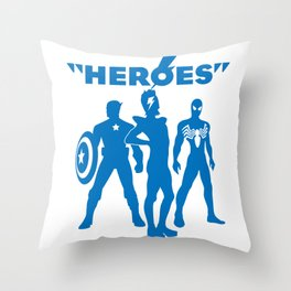 heroes: bowie and his super friends Throw Pillow