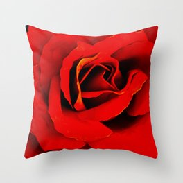 Red Red Rose Flower A218 Throw Pillow