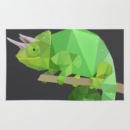 Low Poly Chameleon Rug