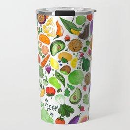 Fruit and Veg Pattern Travel Mug