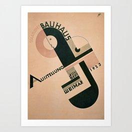 Vintage Germany, 1923 Bauhaus Poster Art Print