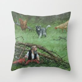 Pointed hat Throw Pillow