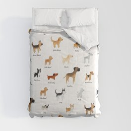 Lots of Cute Doggos - With Names Comforters