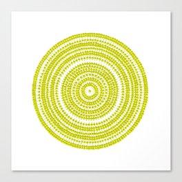 Lime green dot art painting Canvas Print