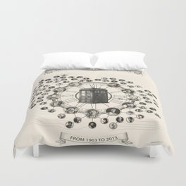 Doctor Who Companions poster Duvet Cover