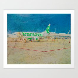 Transavia Boeing 737-300 in Munich Art Print
