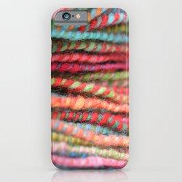 Handspun Yarn Color Pattern by robayre iPhone Case