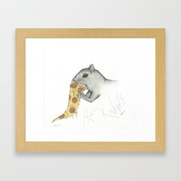 He knows Framed Art Print