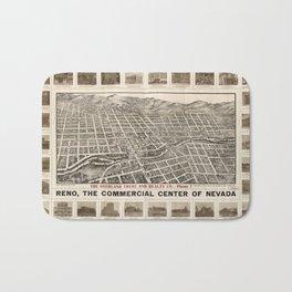 Aerial View of Reno, Nevada (1907) Bath Mat
