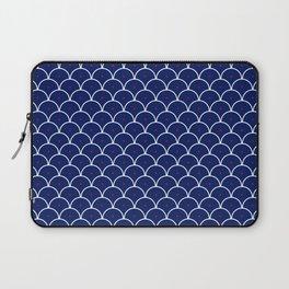 Japanese Waves Seigaiha Blue Red Laptop Sleeve