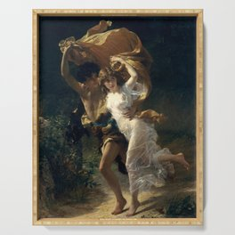 The Storm By Pierre Auguste Cot Serving Tray