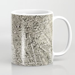 Vintage Pictorial Map of The Boston Suburbs (1888) Coffee Mug