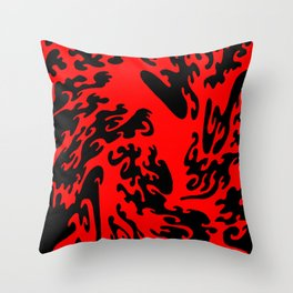 Attack Of The Splodge  Throw Pillow