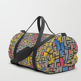 Blue, yellow, and red leaf mosaic Duffle Bag