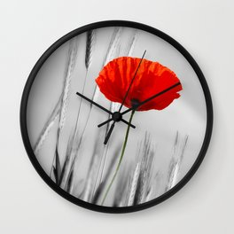 Poppy Red 070 Wall Clock