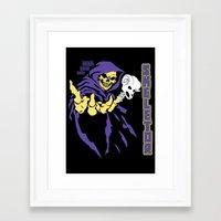 skeletor Framed Art Prints featuring Skeletor  by Buby87