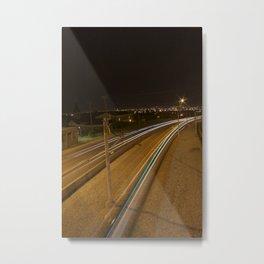 C-Train at night 2 Metal Print