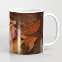 hedgehog Mugs featuring Hedgehog by Lilybet