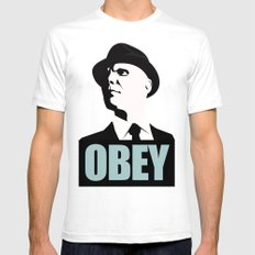 OBEY (Fringe) MEDIUM Mens Fitted Tee White