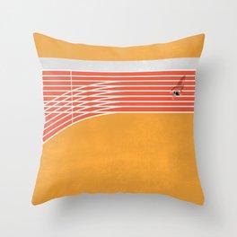 Finish Line Throw Pillow