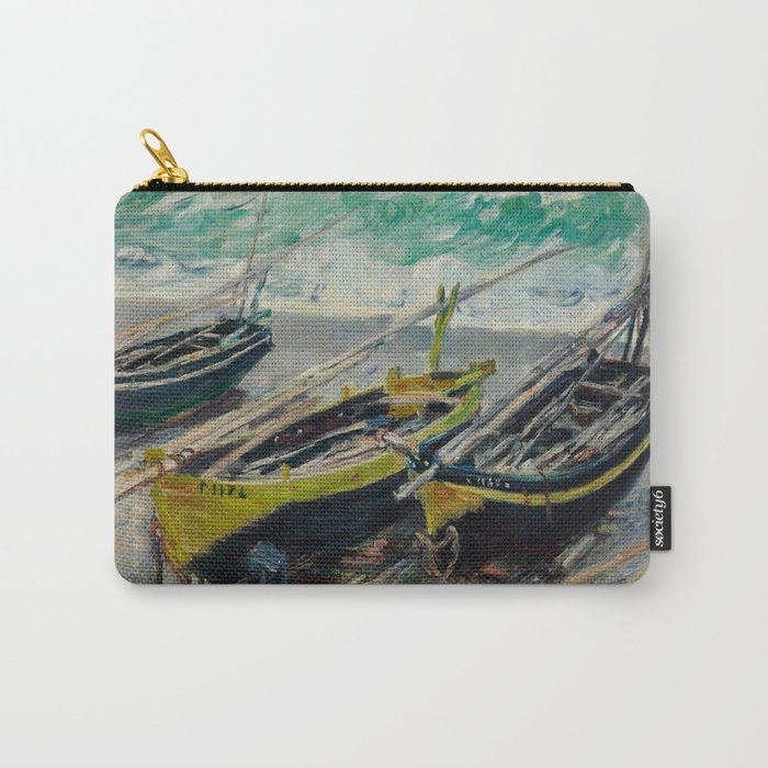 Three Fishing Boats by Claude Monet Carry-All Pouch
