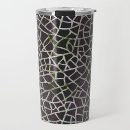 Crackle Magenta Suede Travel Mug