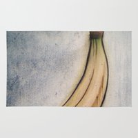 banana Area & Throw Rugs featuring Banana by wendygray