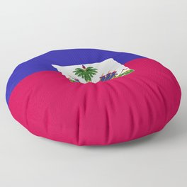 Haiti flag emblem Floor Pillow