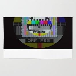 Old TV test pattern Rug