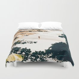 Solo Traveler || #illustration #travel Duvet Cover