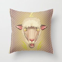 Bedlamb! Throw Pillow