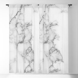 Luxury white marble Blackout Curtain