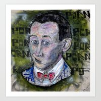 pee wee Art Prints featuring pee wee by Roosterface