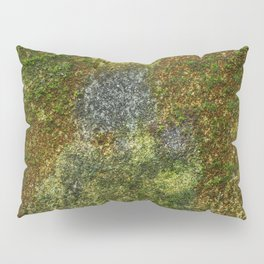 Old stone wall with moss Pillow Sham