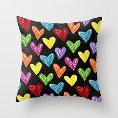 Midnight Love Throw Pillow