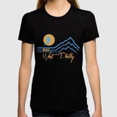 Ski West Philly Womens Fitted Tee Black X-LARGE