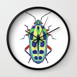 Colorful Beetle Bug #1 Wall Clock