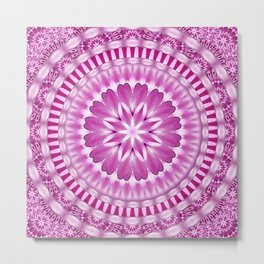 Flower Petals Mandala Metal Print
