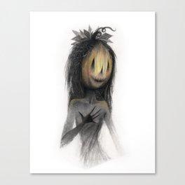 Jack o Lantern Witch Canvas Print