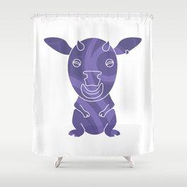 Tiki Cow Shower Curtain