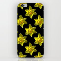 Daffodil On Black iPhone & iPod Skin
