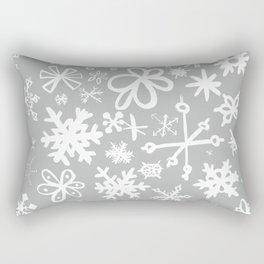 Snowflake Concrete Rectangular Pillow