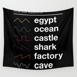Know your Waveforms Wall Tapestry
