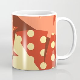 Patterned Autumn Leaves (Modern Retro Bold Colors) Coffee Mug
